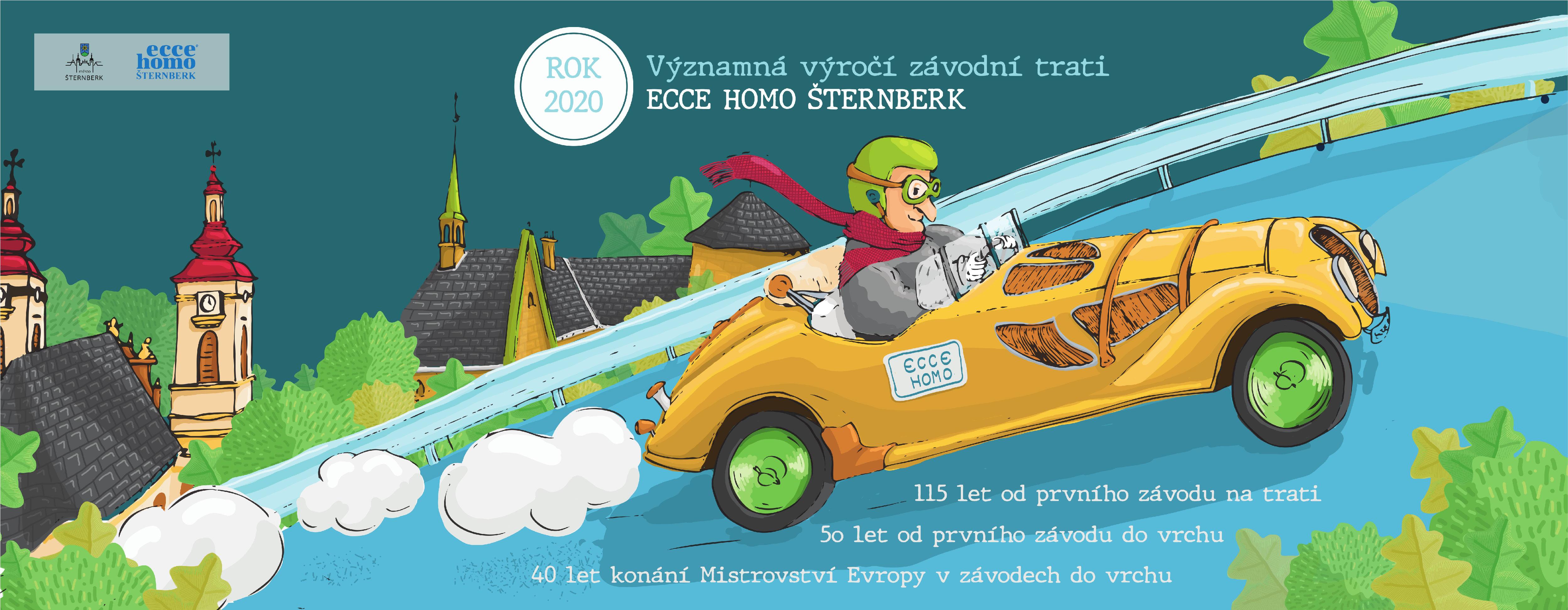 Banner k výročí závodu Ecce homo Šternberk